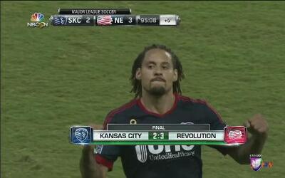 Triunfo del New England sobre el Sporting Kansas City por 3-2