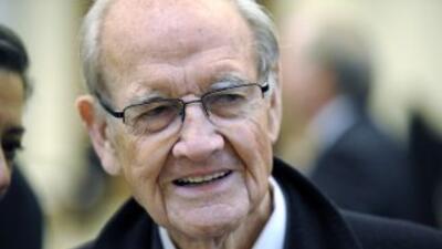 El ex senador estadounidense George McGovern, quien perdió las eleccione...