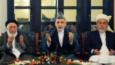 El presidente Hamod Karzai, redobla esfuerzos con las tribus afganas, in...