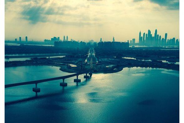 Esta fue la imagen que compartió al llegar a Dubái.