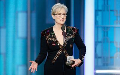 Streep dio un mensaje que movió literalmente a sus colegas presen...