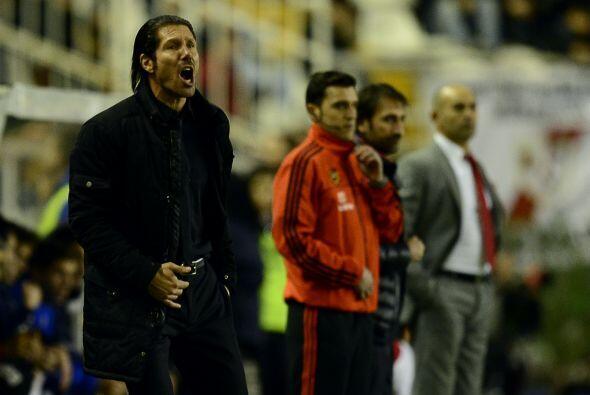 El técnico argentino del Atlético, Diego Simeone, destac&o...