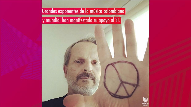 Juanes, Carlos Vives, Miguel Bosé y más apoyan el 'sí' por la paz en Col...