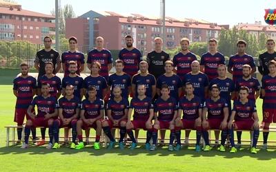 La foto oficial del FC Barcelona en la temporada 2015/2016