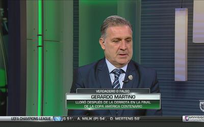Martino contó que lloró después de perder la final de la Copa América Ce...