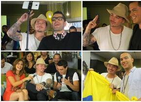El cantante colombiano compartió con sus fans y Omar Ramos, Mau Mauricio...