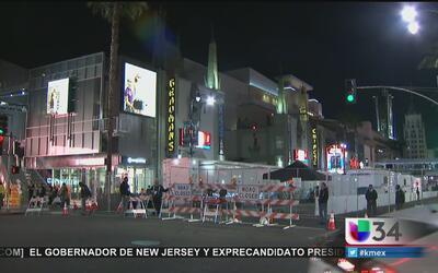 Algunas calles ya están cerradas por la entrega de los premios Oscar