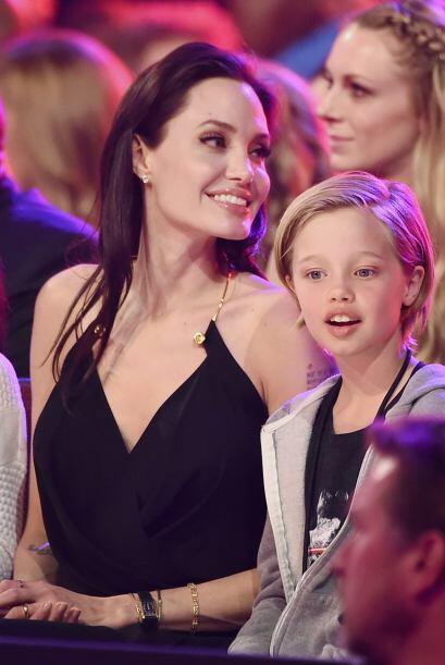 Angelina, feliz en el público.