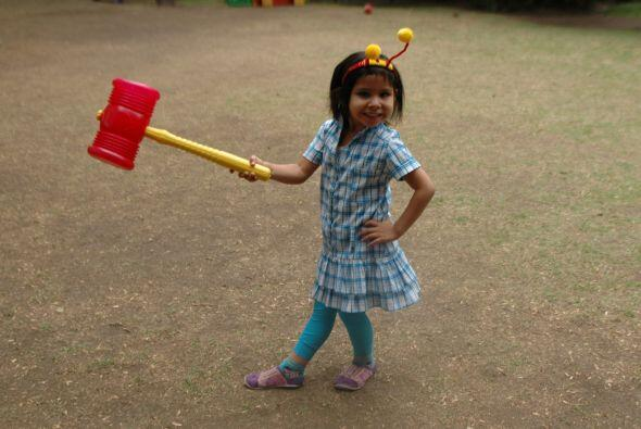 Nazli, líder del escuadrón de los Súper Peques, fue otra de las pequeñas...