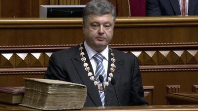 Toma posesión Petro Poroshenko como presidente de Ucrania