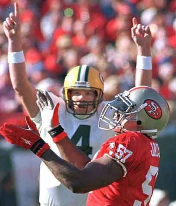 """Marcadas rivalidadesMientras Dallas fue un """"Waterloo"""" para Favre y los P..."""