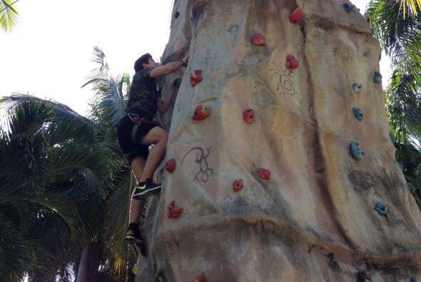 Gelena, Carlitos y Danilo realizaron algunas de las actividades m&aacute...