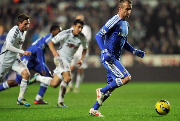 Chelsea visitó al Swansea en un partido por demás complicado.