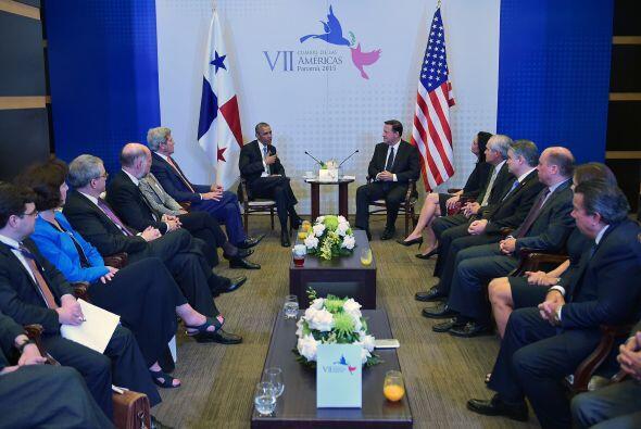 El presidente Obama sostuvo un encuentro bilateral con el presidente de...