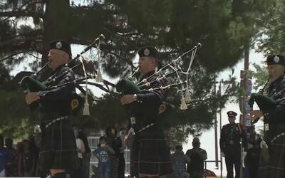 Rinden tributo a los 84 oficiales que han caído en acción durante la exi...