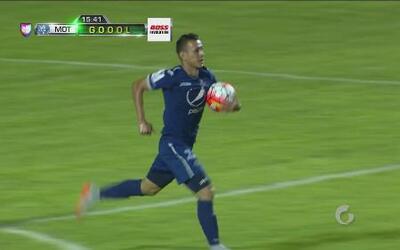 Erick Andino aprovecha un error de América y anota para Motagua