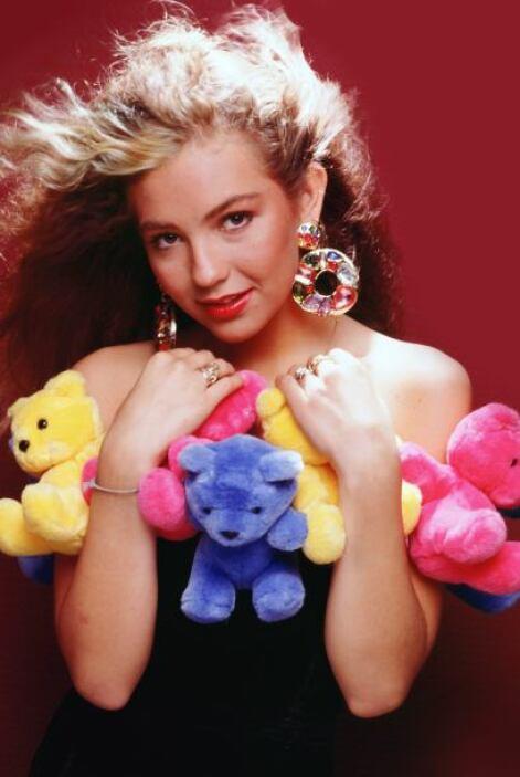 Thalía en 1990, tenía 19 años.