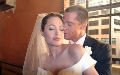 """Brad Pitt y Angelina Jolie """"casados"""" en el set de la pel&iacut..."""