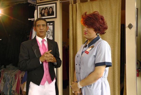 Miss Meche no tuvo de otra que aceptar la decisión del presidente.