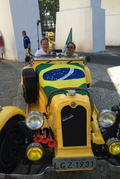 Por si fuera poco, Raúl pudo subirse a un Alfa Romeo de 1931.