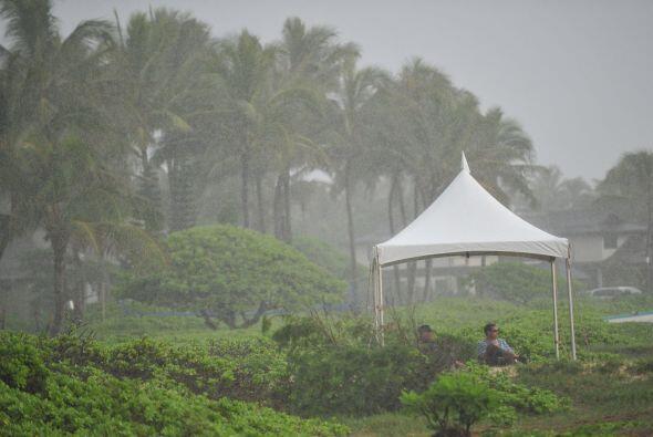 La lluvia ha sido una constante en Hawai la mayor parte de los días vaca...
