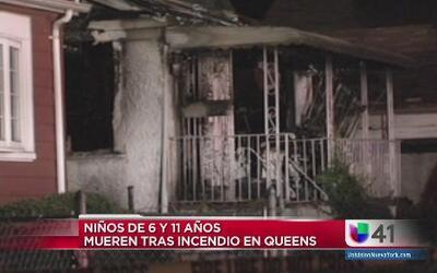 Dos niños muertos por incendio en Queens