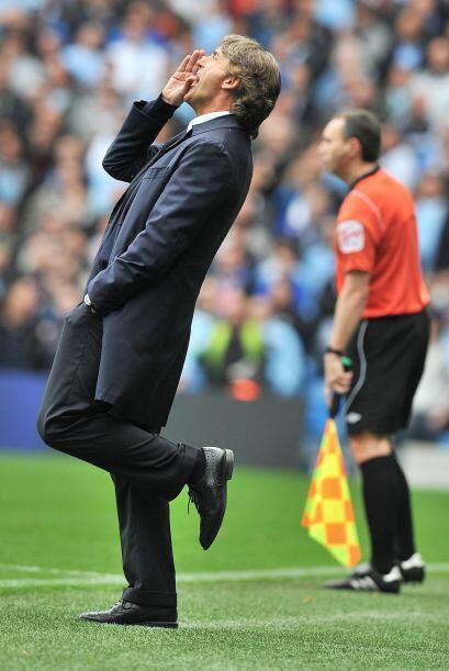 Tanta felicidad tienen los 'Citizen' que su técnico, Mancini, baila y ca...