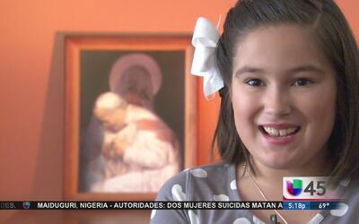Niña de Houston cumplirá sueño de ver al papa Francisco