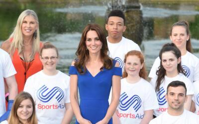 La Duquesa antes de la cena del aniversario 40 de la fundación SportsAid...