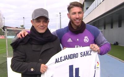 Alejandro Sanz y Sergio Ramos