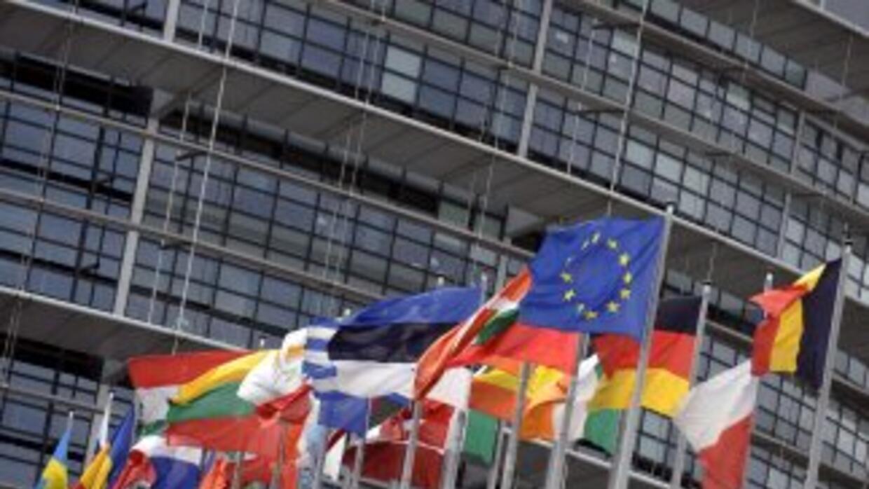 Parlamento europeo en Strasbourg, Francia.