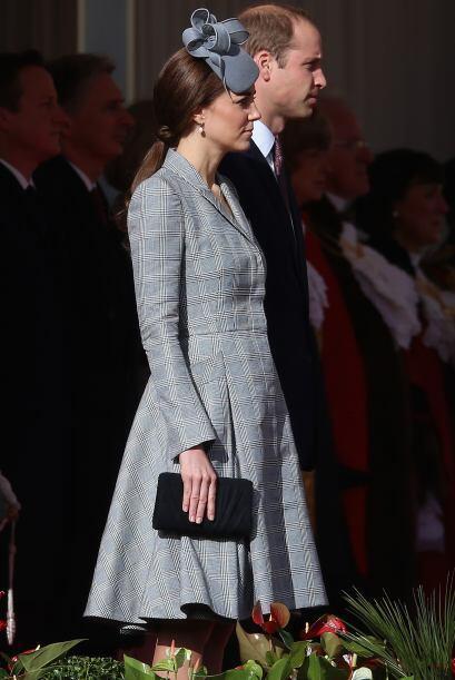 Al igual que con su primer embarazo, Kate lidió con las náuseas.