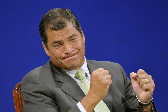 RAFAEL CORREA Y ANNE MALHERBE GOSSELINE - Él es el Presidente de Ecuador...