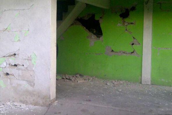 Casas dañadas en San Marcos, Guatemala. Fotos Twitter