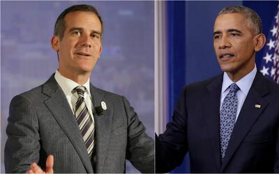 Expresidente Obama respalda la reelección de Eric Garcetti como alcalde...