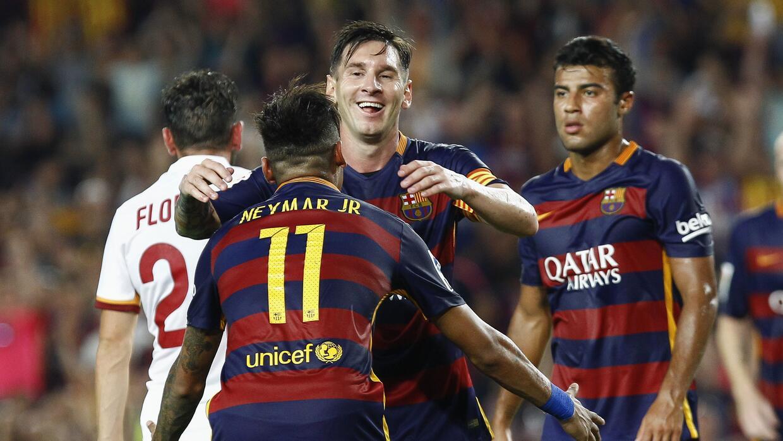 El Barça goleó a la Roma en el Gamper