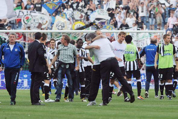 Ahora, con dos partidos por jugar, el Udinese rebasó con 62 unida...