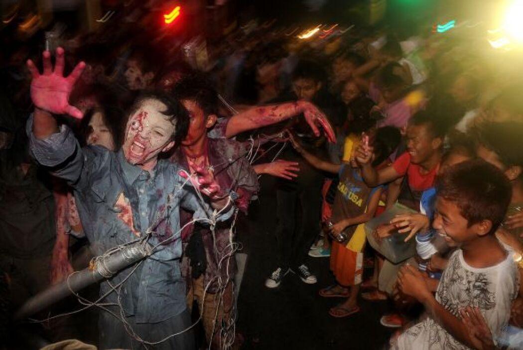 Un zombi es una figura legendaria propia del culto vudú haitiano.