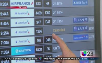 Comienza la cancelación de vuelos en MIA por tormenta invernal