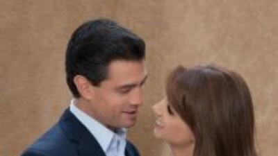 Angélica Rivero y Enrique Peña Nieto.