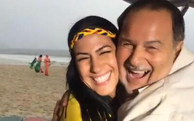 Raúl de Molina, enamorado de una colombiana en Brasil