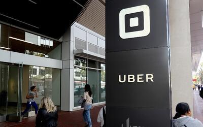 Entrada a las oficinas principales de Uber en San Francisco, California.