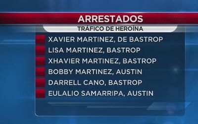 Arrestados por tráfico de heroína