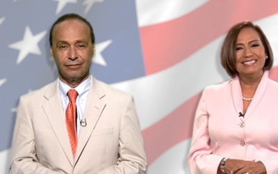 El congresista demócrata Luis Gutierrez con la extesorera de EEUU...