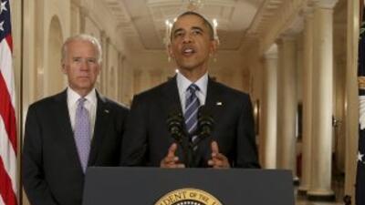 El Presidente de Estados Unidos, Barack Obama, anuncia la firma de un ac...