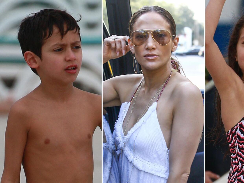 Mira a Jennifer con sus lindos hijos