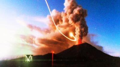 Oleadas de OVNIs en México relacionadas con un volcán