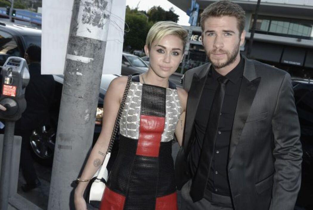 La última vez que Miley Cyrus y Liam Hemsworth fueron vistos juntos fue...