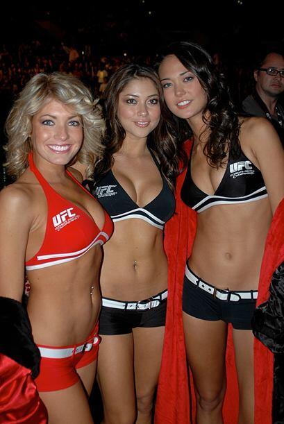 Ellas estuvieron en le cartel de la UFC en Los Angeles.