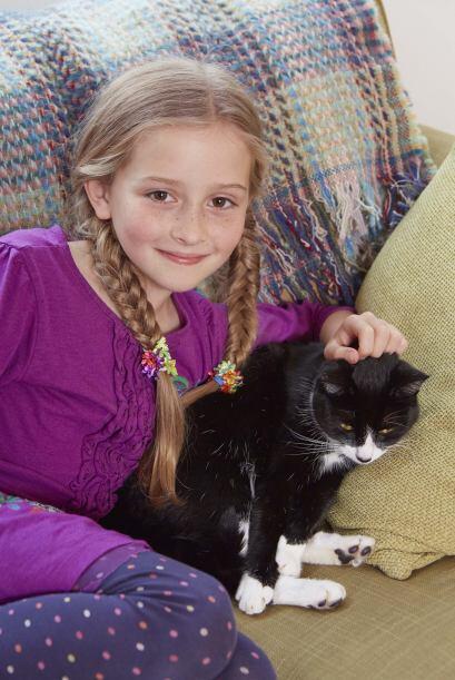 Afortunadamente su gata  Pippa despertó a su mamá, que reaccionó rápidam...